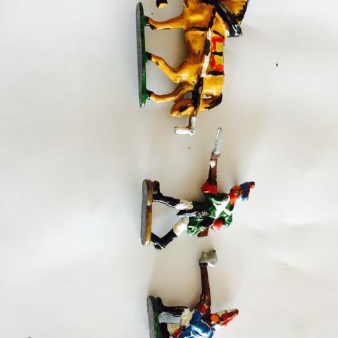 3 Figuren von 108 die ich habe - (Wert, Handel, zinnsoldaten)