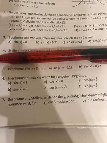 Sinusfunktion Mathe Hilfe?