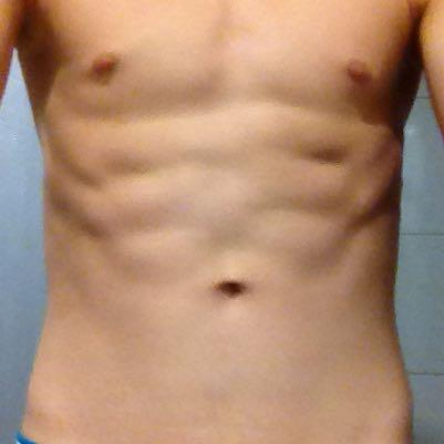 Hier ist er - (Bauch, Sixpack)