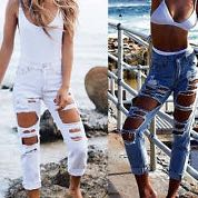 skinny jeans mit gro en l chern mode fashion loch. Black Bedroom Furniture Sets. Home Design Ideas
