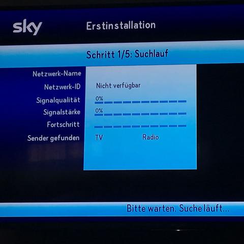 Sky Sendesuchlauf Hängtgeht Nicht Receiver Sendersuchlauf