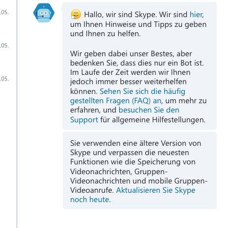 Das ist die Skype - Nachricht - (Skype, Aktualisieren)
