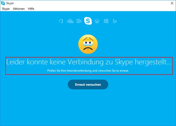 Fehlermeldung - (Fehler, Skype, Windows 10)