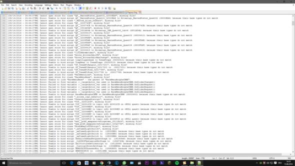 Screenshot 2 Crash Log - (Technik, Games, skyrim)