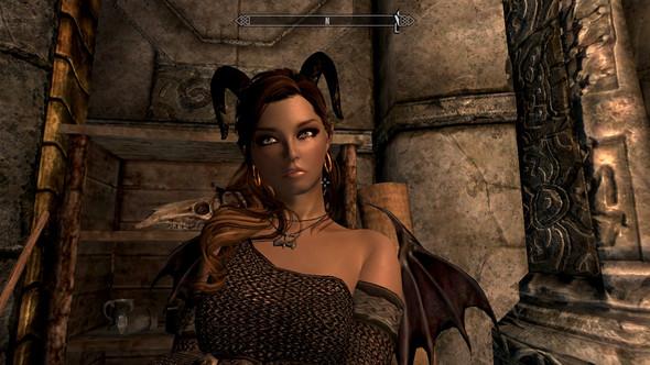 Bild 3: Mein Charakter mit normalem Gesicht - (Computer, Games, skyrim)
