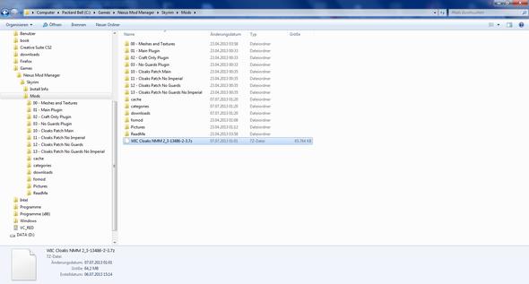 Hier nocheinmal der die entpackten Ordner sammt Dateipfad :) - (Steam, Mods, skyrim)