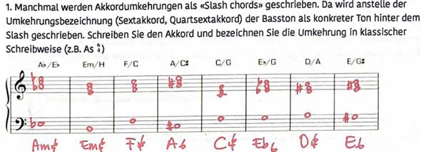 Slash Akkorde - Ich verstehe nicht was das ist?