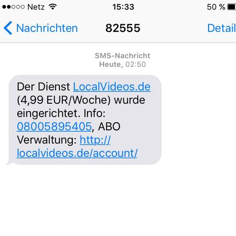 Sms der 1.nummer - (iPhone, Android, Abo)
