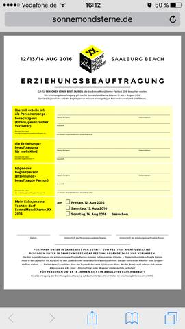Formular - (Festival, Jugendschutz)
