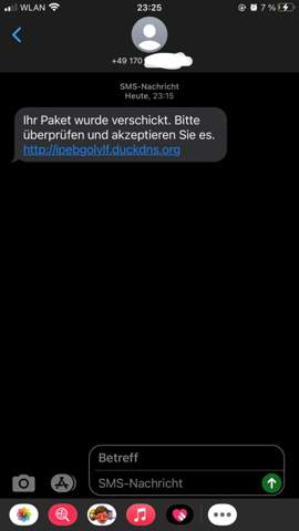 - (Smartphone, SMS)