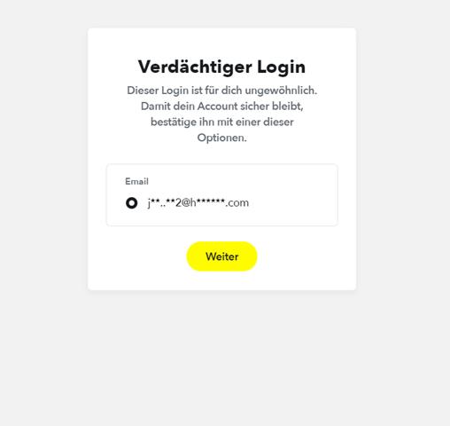 Vergessen e mail ungültig passwort snapchat Snapchat passwort