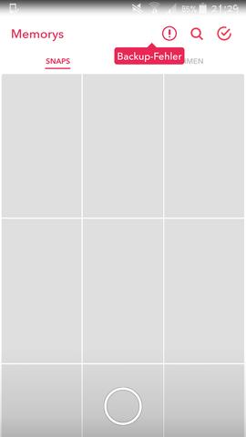 Bild 1 - (Snapchat, Backup, Daten wiederherstellen)