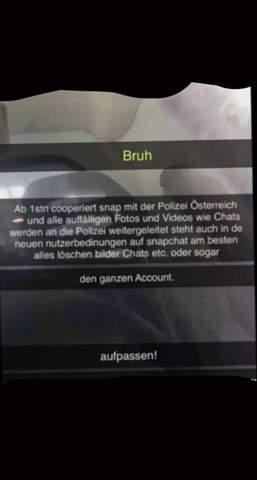 Snapchat schickt Chats und Bilder an Polizei?