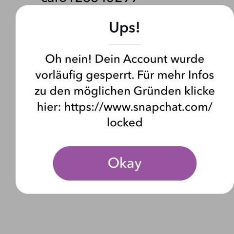 (Die Nachricht als ich mich einloggen wollte.) - (Handy, App, Snapchat)