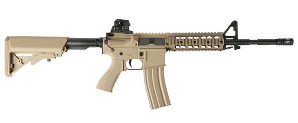 G&G GR15 RIS Raider L BlowBack Komplettset AEG 6mm BB Desert Tan - (Softair, Airsoft, Magazin)