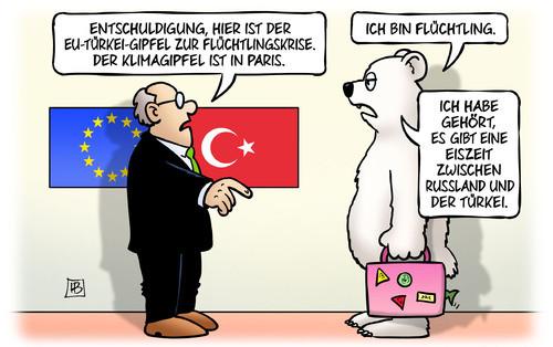Karikatur - (Politik, Flüchtlinge, Cartoon)