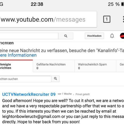 Youtube Nachrichten - (Youtube, Nachrichten, Spam)