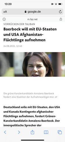 Sollte Deutschland Flüchtlinge aus Afghanistan aufnehmen?