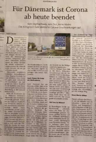 Sollte die Corona-Pandemie jetzt in Deutschland für beendet erklärt werden? (Siehe Link Dänemark)?