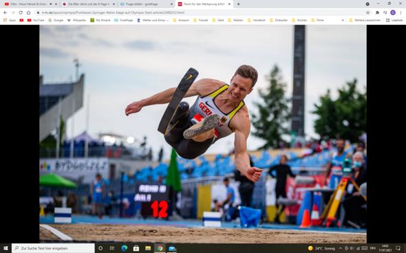 """Sollte Markus Rehm bei den Olypischen Spielen antreten dürfen? Nicht """"nur"""" bei den Paralympics?"""
