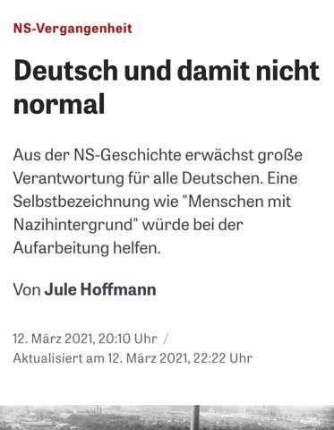 Sollten Deutsche anfangen sich so zu nennen?