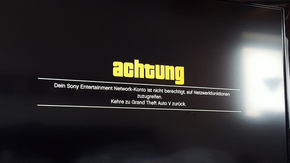 Sony Entertainment Network konto nicht berechtigt für online?