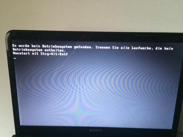 Dieser Screen kommt ständig - (Meldung, Sony vaio)