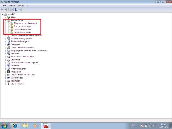 Hardwaremanagerauszug - (Windows 7, Sony, Treiber)