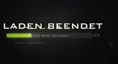 Laden BEENDET überdeckt auch für so ca 5-10 Sekunden den anderen Text, dann weg - (Youtube, Sony, Text)