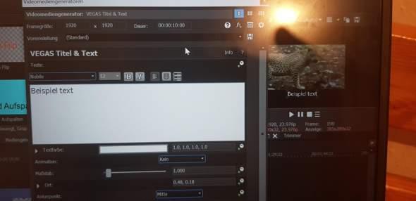 Sony vegas: qualität der untertitel verbessern, die sind bei mir sehr unklar, unten seht ihr ein bild?