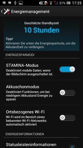 energiesparmodus - (Sony, Xperia p, akku verbrauch)