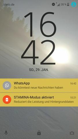 Sony Xperia Xa Whatsapp Meldung Sperrbildschirm Du Könntest Neue