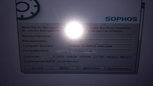 - (Passwort, Sophos)