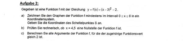 Aufgabe bei der ich Hilfe benötige - (Mathematik, Funktion, Gleichungen)