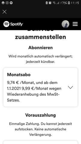 Sotify premium Jahres Abo?