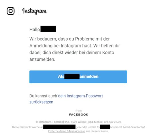 Spam Belästigung von Instagram?