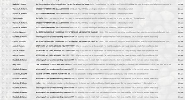 Spam Emails immer die selben?