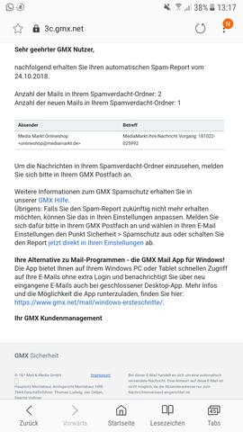- (Computer, Spam, GMX)