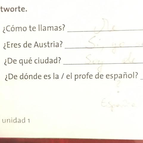 was heißt der letzte satz übersetzt und was soll ich darauf antworten? - (Schule, spanisch, acuerdate)