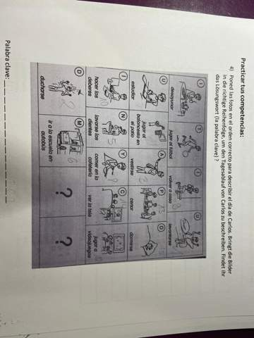 Spanisch Tagesablauf Rätsel?