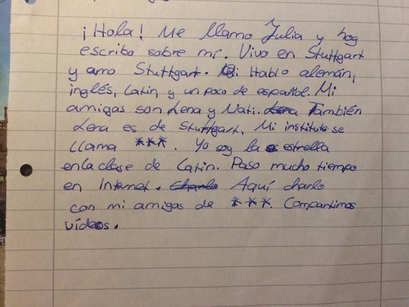 Hier mein Text. - (Text, spanisch)