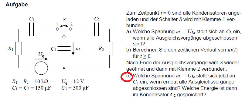 spannung  kondensator berechnen physik elektronik