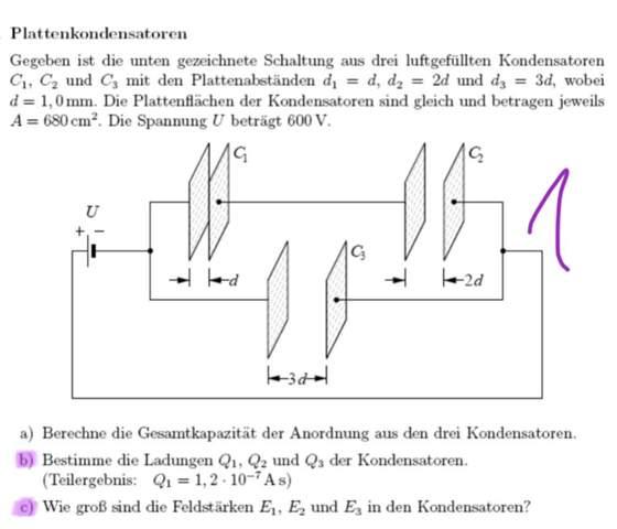 Spannung bei Kondensatoren in Parallelschaltung?