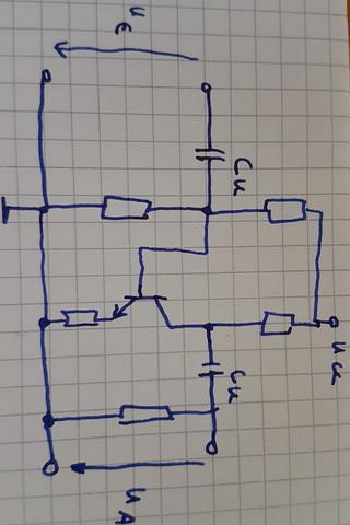 Aufgabe - (Elektrotechnik, Transistor, Spannungsquelle)