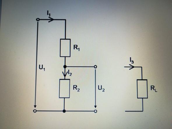 Spannungsteiler unbelastet - (Technik, Physik, Technologie)