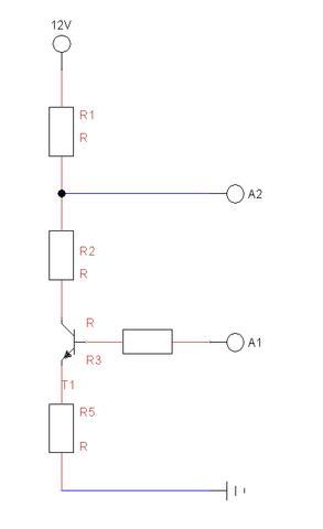 Spannungsteiler mit Transistor: Wie berechne ich die benötigten ...