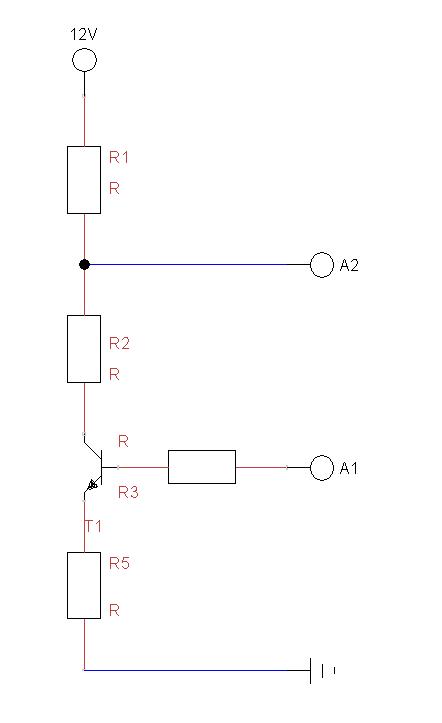 spannungsteiler mit transistor wie berechne ich die ben tigten widerst nde wie viel strom. Black Bedroom Furniture Sets. Home Design Ideas