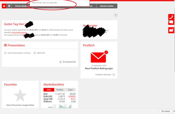 Sparkasse Online Banking Keine Konten Oder Gvs Gefunden Finanzen