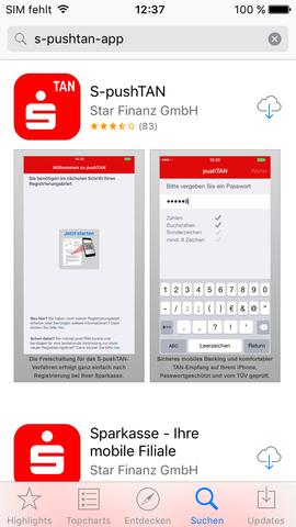 Pushtan Sparkasse App