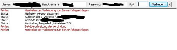 FileZilla Antwort - (PC, Internet, Router)